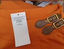 Ralph Lauren Shaela leather Buckle Top Orange BNWT!! XS and L