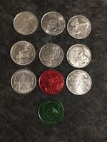VINTAGE LOT Of 9 MARDI GRAS COINS 1975-1979 Tokens Some RARE