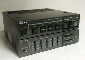 SONY TA-38 INTEGRATED STEREO AMPLIFIER WITH PHONO AND AUX - MADE IN JAPAN