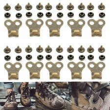 10pcs Gunmetal Boot Hooks Lace Fittings With Rivets Camp Hike Climbing Repair