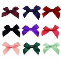 15mm Satin Ribbon Bows - 25 Colours - 10, 50 or 100 Packs
