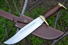 "HUNTEX Handmade J2 Steel 13"" Long Walnut Wood Hunting Bowie Bladed Knife"