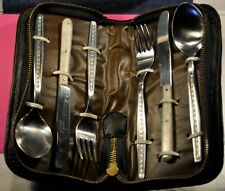 """""""Terna""""  Vtg  Stainless Steel  Knives Forks Spoons Camping Tool Sets. c.1989's"""