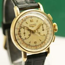 1940's LONGINES 18K SOLID YELLOW GOLD FLYBACK CHRONOGRAPH CAL 13ZN MEN'S WATCH