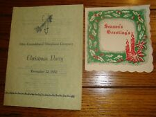 Ohio Consolidated Telephone Company Christmas Party Program - Dec. 12, 1952