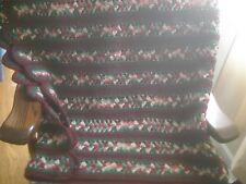 AFGHAN Handmade Craft Crochet Throw Blanket Afghan fall colors