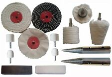 14pc Stainless Steel Polishing Buffing Kit Use on Bench Grinders