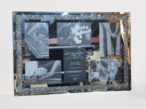 """Crushed Jewel Multi Aperture Photo fits 6 photos 6x4"""" inches multi-picture frame"""
