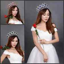 Shiny Crystal Bridal Pageant Tiara Rhinestone Hair Accessories Crown Bride Prom&