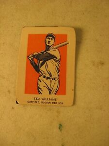 WHEATIES CEREAL HAND CUT SPORTS CARD TED WILLIAMS BOSTON RED SOX