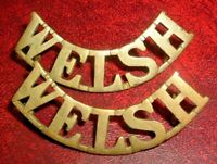SHOULDER TITLES-PRE 1920 WELSH REGIMENT 'WELSH' PAIR