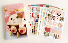 8 sheet  lovely cat  diary album calendar notepad students mobile phone stickers