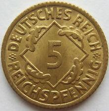 TOP! 5 REICHSPFENNIG 1926 E in BANKFRISCH / STEMPELGLANZ SEHR SELTEN !!!