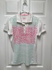 Puma Women's Golf - Tennis Shirt Short Sleeves S Multicolored Embroidered Logo