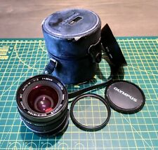 RARE Olympus 35mm F/2 MC Zuiko Auto-w - Like New! Box, caps & Hood!