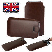PU Leather Slim Thin Pull Tab Phone Case Cover Slip Sleeve For Sony Xperia