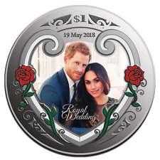 2018- Silver $1 Proof Coin- 1 OZ Royal Wedding Prince Harry and Meghan MARKLE