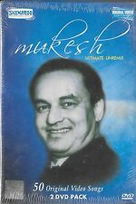 MUKESH - ULTIMATE UNREMIX 50 ORIGNAL VIDEO SONGS SET OF 2 BOLLYWOOD MUSIC DVDs