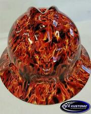 Blaze Pattern Full Brim New Custom MSA V-Gard Hard Hat W/FasTrac