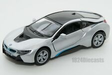 BMW i8 in silver, Kinsmart KT5379, 1:36 scale, 5 inch model toy car gift