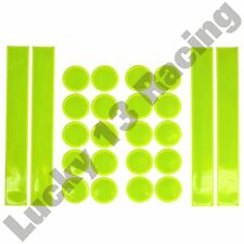 24 piece high visibility reflective safety sticker set motor cycle bike hi vis