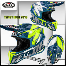 CASCO CROSS ENDURO MOTARD AIROH TWIST IRON BLUE 2018 TAGLIA L (59-60)