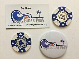 San Diego Blues Festival & Baja Blues Fest Promo Poker Chip, Badge, Magnet, More