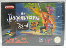 THE PAGEMASTER - SUPER NINTENDO PAL VERSION BOXED SNES RARE NEW