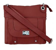 Concealed Carry Gun Purse Twist Lock Pocket Crossbody Bag Roma Leather Red CCW