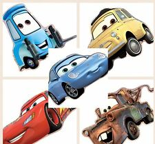 10  Disney Cars Shaped  Stickers Party Favors Tow Mater Sally Lightning McQueen