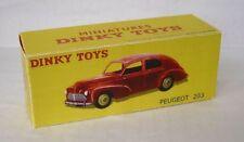Repro Box Dinky Nr.24R Peugeot 203 rot
