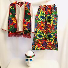 Halloween Costume Hippie Bell Bottom Groovy Psychedelic Dress Up Lot of 5 Youth