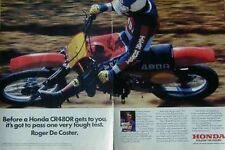 HONDA CR480R Motorcycle Ad With ROGER DECOSTER 1981 CR480 R