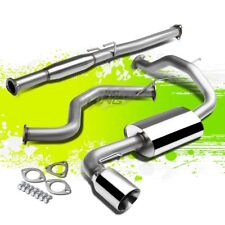 "4""ROLLED TIP MUFFLER PERFORMANCE CATBACK EXHAUST KIT FOR 88-91 CIVIC 3DR HB ED"