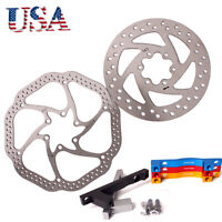 140/160/180/203mm MTB Bike Disc Brake Rotor Post Mount Adapter Rotor Caliper CNC