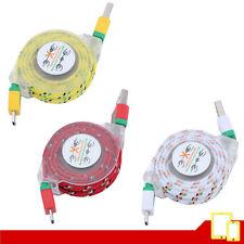 Cable USB Retráctil Micro USB Android / Carga y Sinc. - Varios Colores - 90 Cm