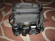 Nikon N6006 35mm SLR Film Camera w/ Nikkor 35-80mm Lens + Hitachi Case Bundle