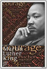 "13""×19"" Inspirational Poster: MARTIN LUTHER KING jr. Black History Civil Rights"