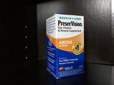 120 caps Bausch Lomb PreserVision AREDS Lutein Eye Vitamin & Mineral Supplement