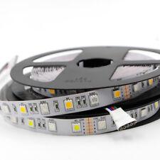 RGBW 5M 5050 Black PCB 300Leds 5050 SMD LED Strip Light RGB+Warm White DC12V 24V