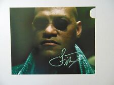 """""""The Matrix"""" Laurence Fishburne Hand Signed 10X8 Color Photo"""