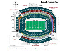 2 Phila. Eagles Lower Level section 103 ROW2 tickets vs Seattle Seahawks 11/30