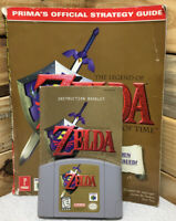 Legend of Zelda: Ocarina of Time N64 W/ Booklet & Strategy Guide TESTED Complete