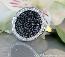 Eleganter schwarze & weiße Diamanten / Brillanten Ring, 1,24 cts. WG-585, 2.750€