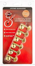 Grover 406G6  Mini Rotomatic Locking Tuners 6 In-Line Gold Finish