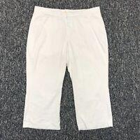 Lee One True Fit Women's Size 18W Med Capri Pants White Cotton Blend EUC