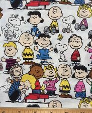 PEANUTS GANG Snoopy Charlie Brown Cotton Fabric ~ FQ (18