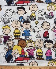 "PEANUTS GANG Snoopy Charlie Brown Cotton Fabric ~ FQ (18""×22"") DIY Mask Making"