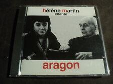 """RARE! CD """"HELENE MARTIN CHANTE LOUIS ARAGON"""" 20 titres"""