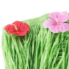 Hawaiian Luau Table Pool Backyard Grass Flower Skirt Hibiscus Party Decorations